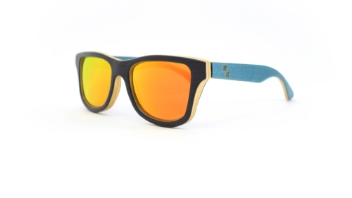 Florida Black & Double Turquoise (Orange Mirror)